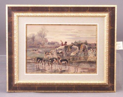 20: European School, 19th c. hunting scene
