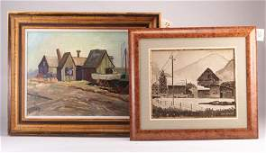 52: Two early 20th c. American scenes: Claude
