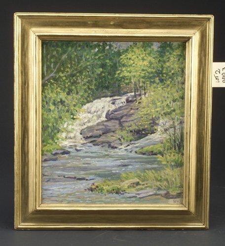 2: American Impressionist landscape, signed L