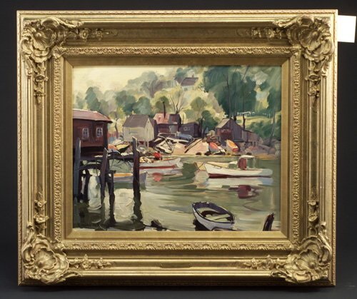 "9: Emile Gruppe (American 1896-1978) ""Docks w"