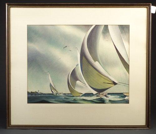"""14: Sandor Bernath (American, b. 1892) """"Spinn"""