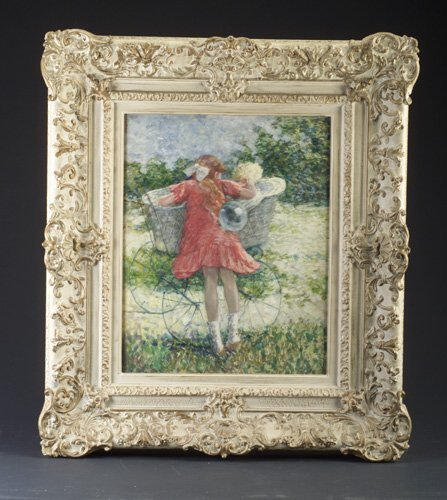 17: American Impressionist School, girl with