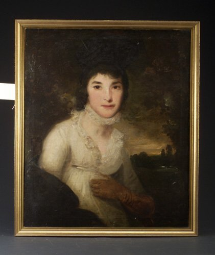 18: Manner of George Romney, Portrait of a wo