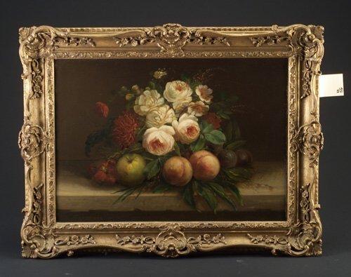 19: F. Van Laer (Dutch, 19th c.) Still Life w