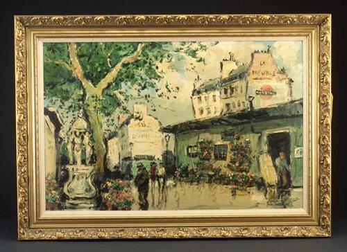 """24: Georges Roces (French 20th c.) """"Paris Str"""