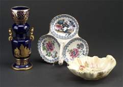 206 Three Victorian ceramic items Staffords