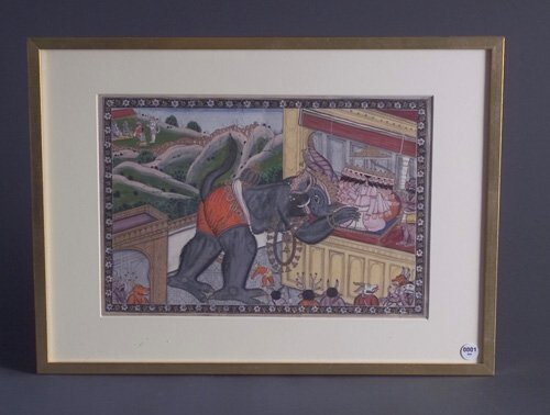 1: Indian School, Untitled, ink and gouache on paper, 9