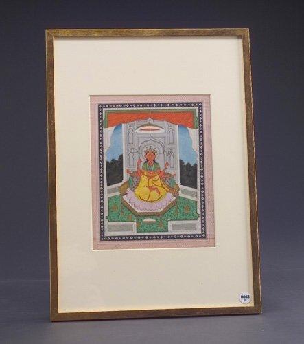 3: Indian school (Kangra), 19th c., Portrait of a Devi,