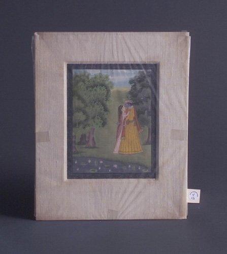 4: Indian School (three works): Krishna and Radha, 19th
