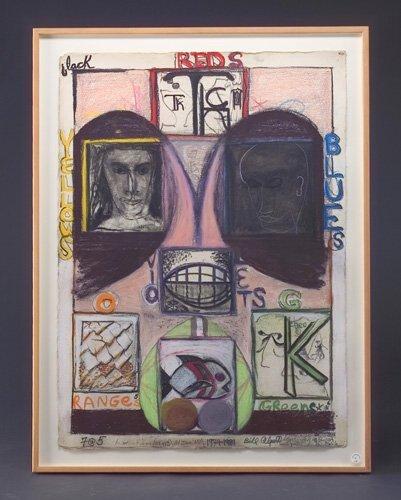 14: Bill Alpert (three works): 7@5, 1974-81, graphite,