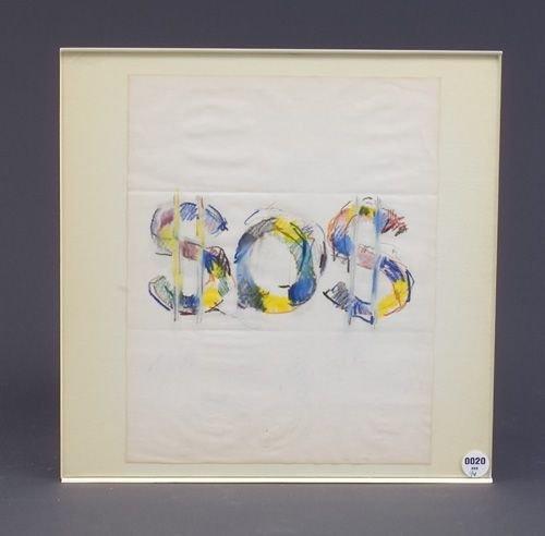 20: Lucio Pozzi (Four works): untitled, 1972, graphite,