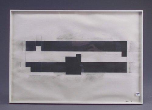 24: Thomas Bang (two works): Untitled, 1978, graphite o