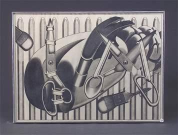 278: Naoto Nakagawa (two works): Timepiece, 1970, graph