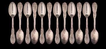 135 TIFFANY  CO Chrysanthemum sterling tea spoons m