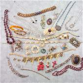 324 19TH20TH C COSTUME JEWELRY 38 pieces Victorian