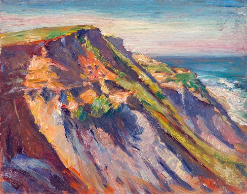13: Max Kuehne (German-American 1880-1968) Cliff Face a
