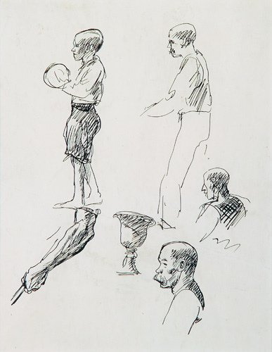 22: Edward Hopper (American 1882-1967) Figures Studies
