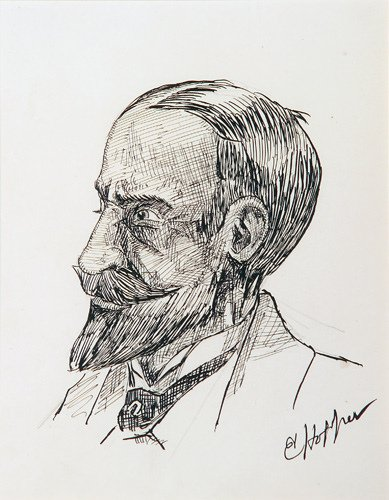 23: Edward Hopper (American 1882-1967) Portrait Head, P
