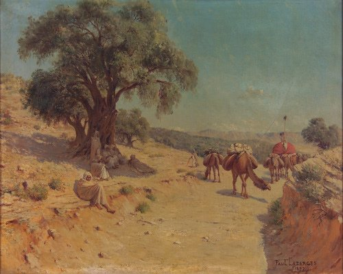 41: Paul Lazerges (French 1845-1902) Orientalist Landsc