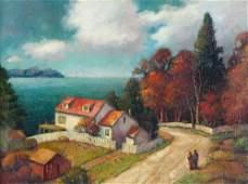 186: George Jensen (American b. 1878) House by the Lake