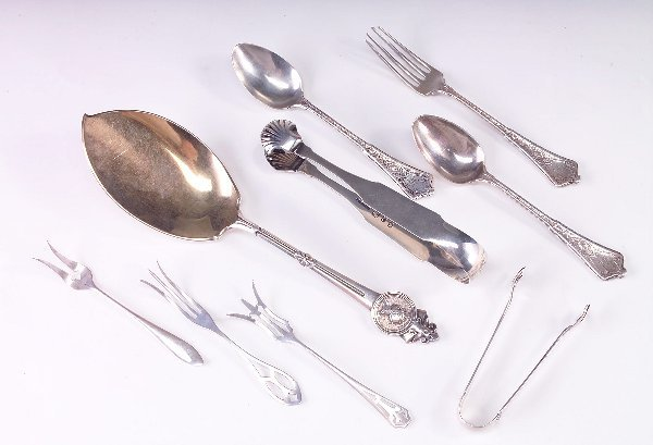 382: Three Tiffany & Co. flatware, 1872; sterling souff