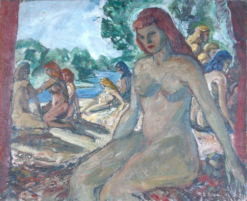509: Walter E. Baum (American, 1884-1956) Untitled (Fig