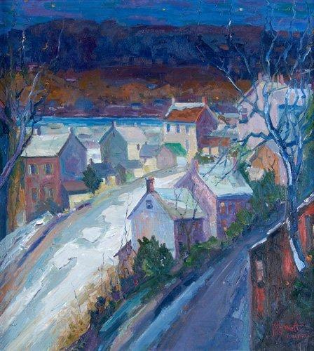514: Joseph Barrett (American, b. 1936); River Town, PA