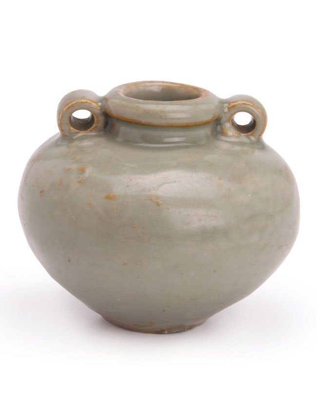 Yuan Dynasty (1279-1368) Oil Jarlet with lugs
