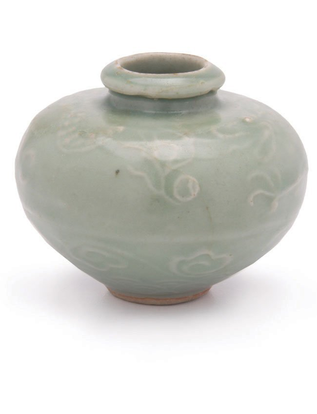 Chinese Celadon Oil Jarlet without Lugs