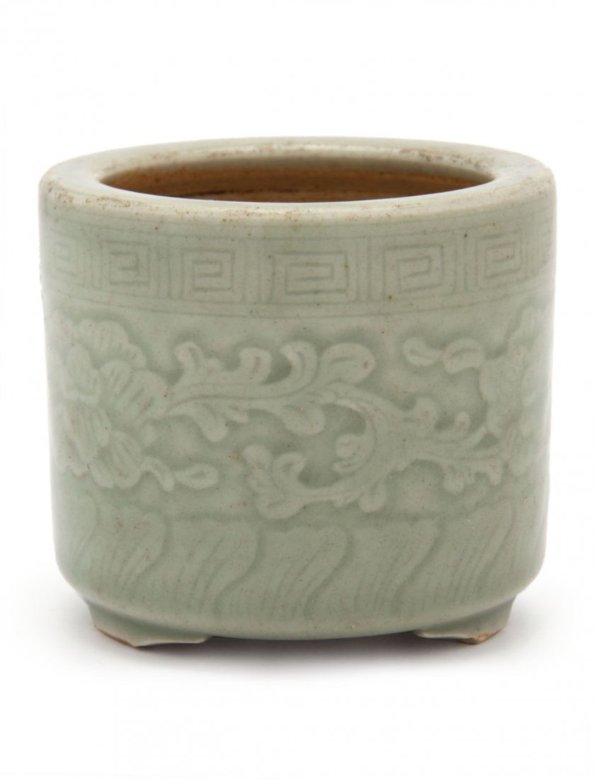 19th C. Chinese Longquan Celadon Glaze Incense Burner