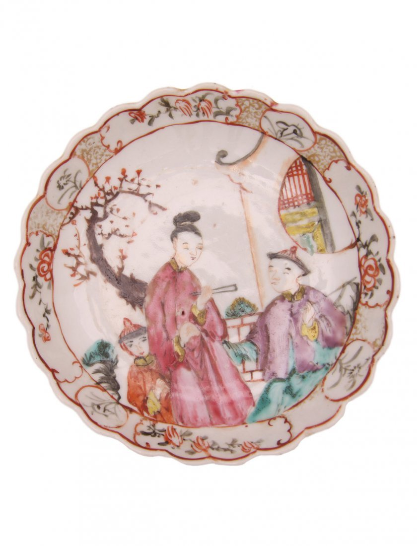 Late 18th C. Chinese Export Saucer Dish