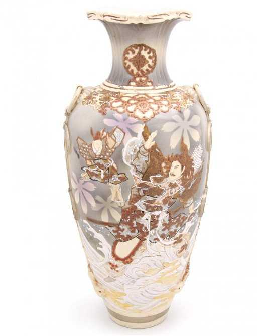 A Large Japanese Satsuma Floor Vase
