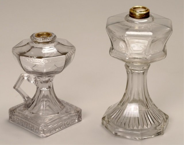 Two EAPG Oil Lamps