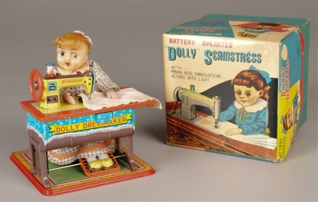 "Battery Operated Toy ""Dolly Seamstress"""