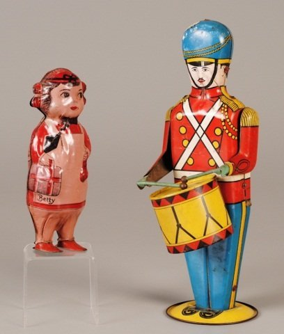 Two Tin Lithograph Wind-Up Toys
