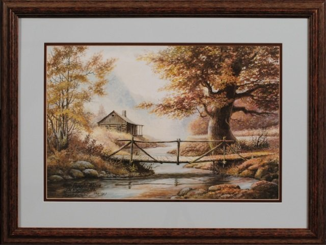Two Prints Signed Lee Roberson, Townsend, TN - 3