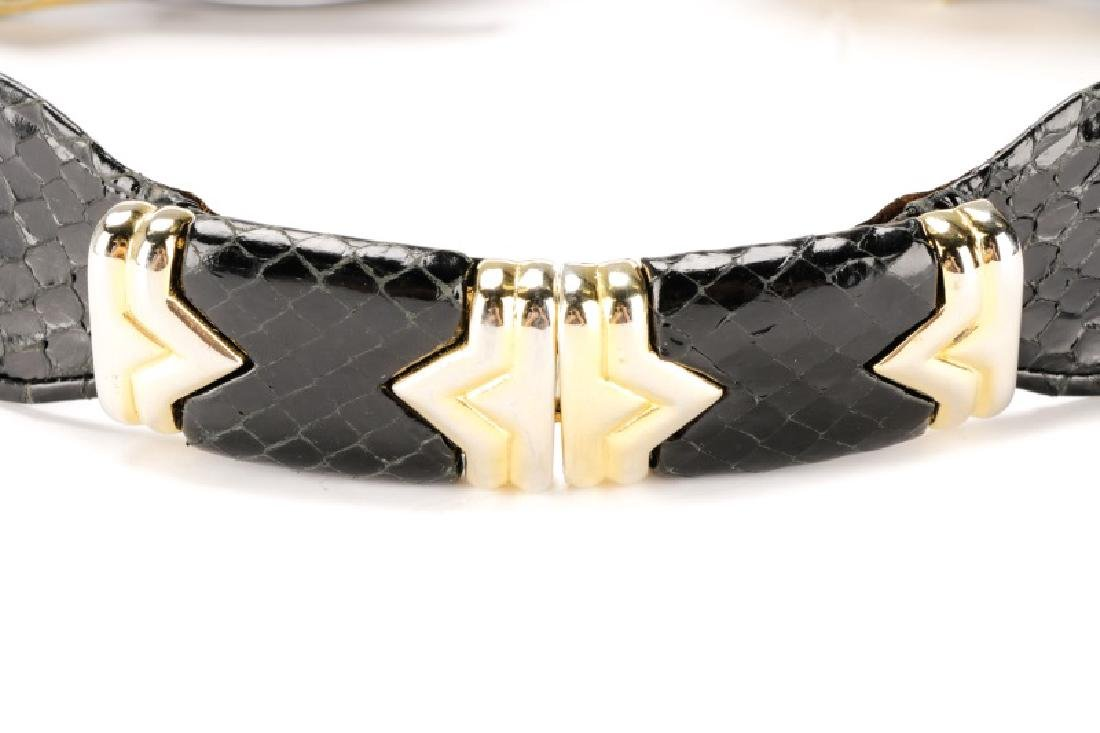 Three Black Judith Leiber Belts with Dust Bags - 2