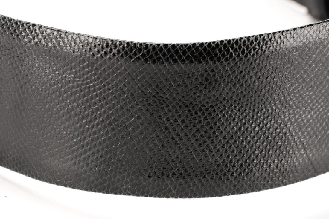Three Black Judith Leiber Belts with Dust Bags - 7
