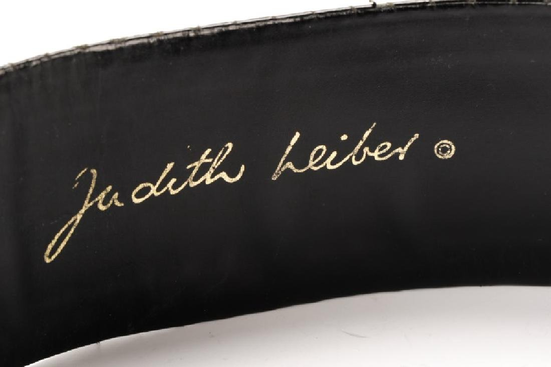 Three Black Judith Leiber Belts with Dust Bags - 9