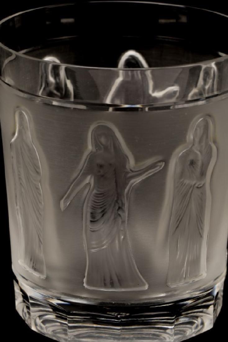 Set of 4 Lalique 'Femmes Antiques' Tumblers - 5