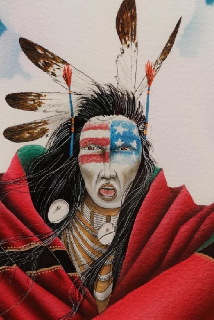 "Bemic Nelson Yellowman, ""Warrior"", Gouache - 5"