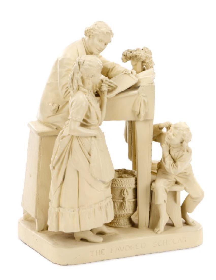 "John Rogers Sculpture, ""The Favored Scholar"""