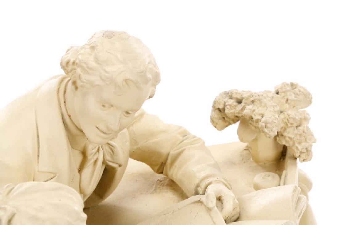 "John Rogers Sculpture, ""The Favored Scholar"" - 2"