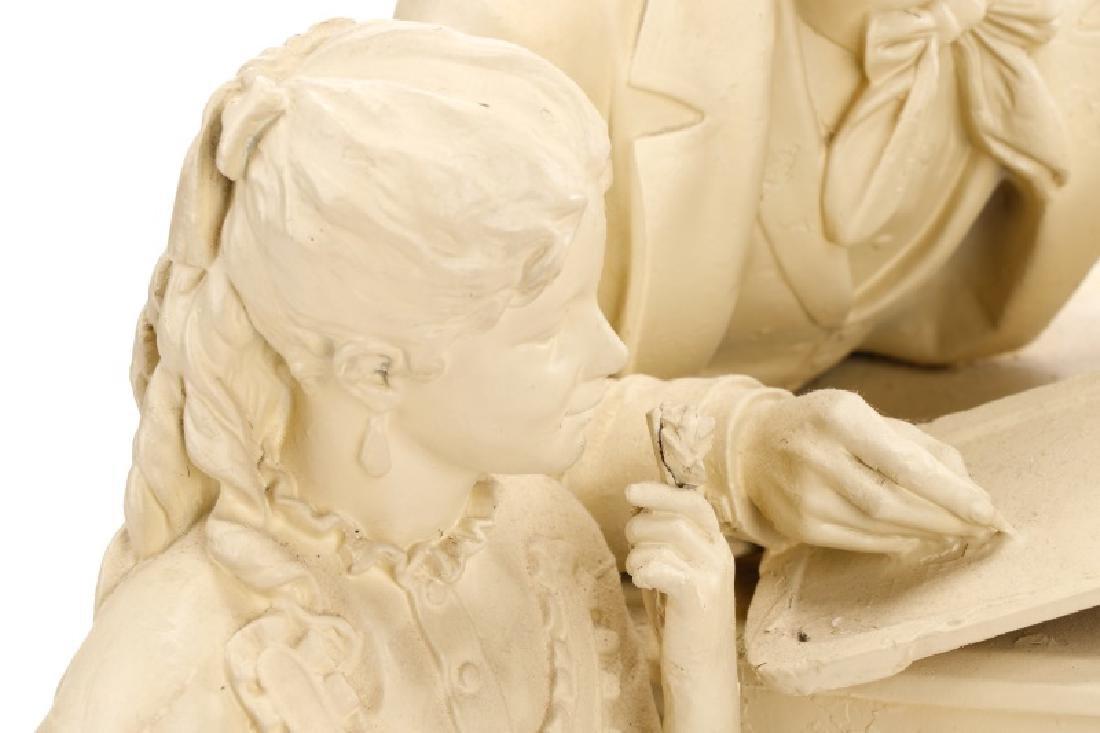 "John Rogers Sculpture, ""The Favored Scholar"" - 3"