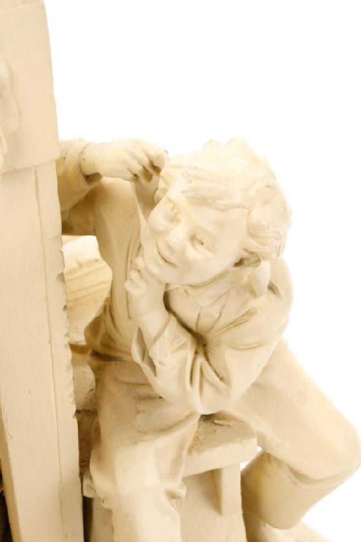 "John Rogers Sculpture, ""The Favored Scholar"" - 4"