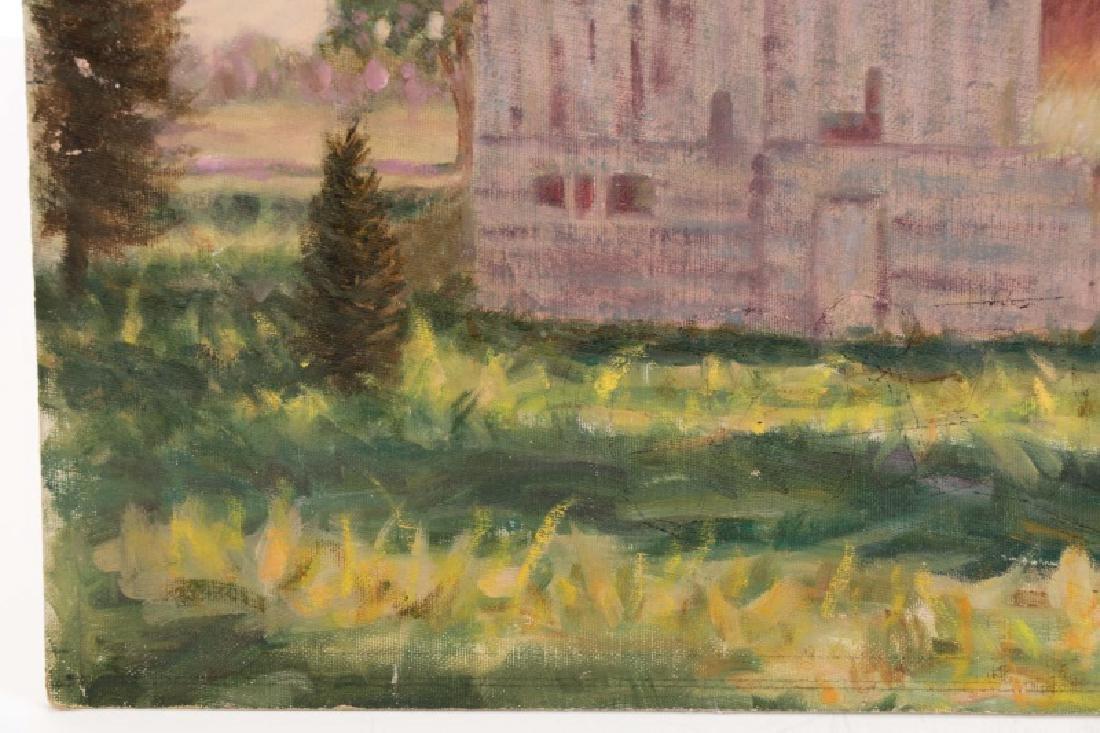 "Henry Rood Jr., ""Barn at Dusk"", Oil on Board - 4"