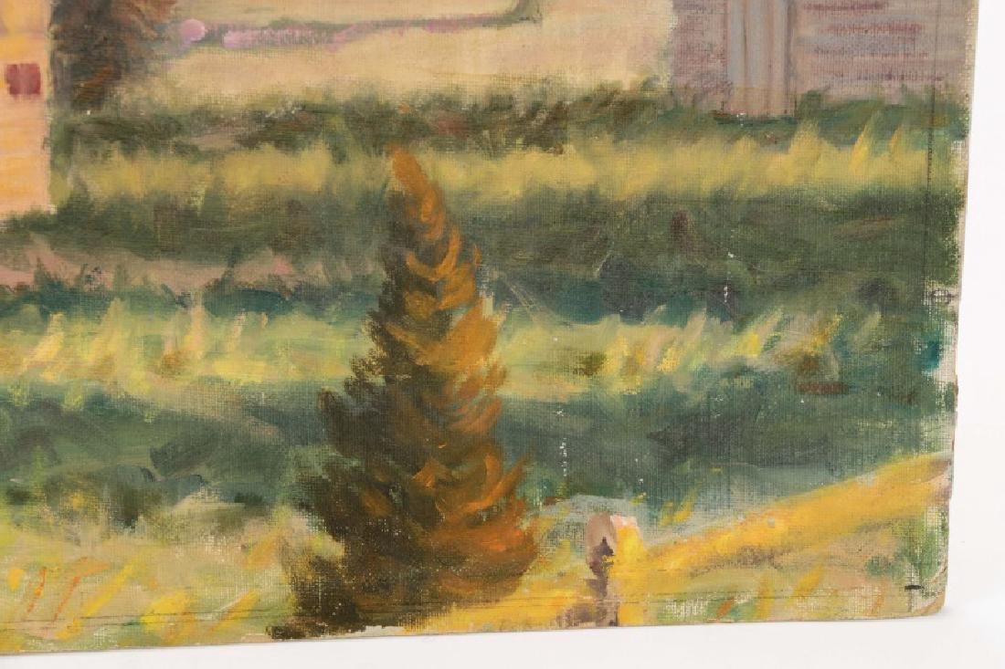 "Henry Rood Jr., ""Barn at Dusk"", Oil on Board - 5"