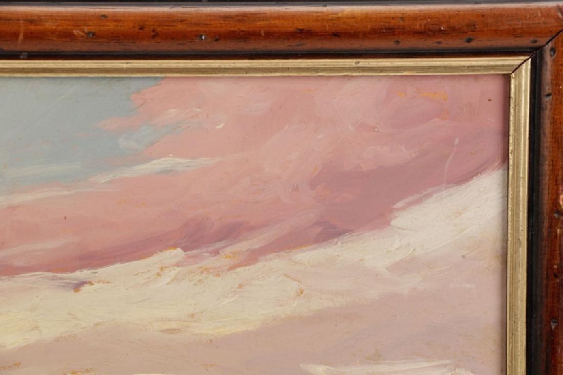 """Iwan Trusz, """"Haystacks"""", Oil on Board - 2"""