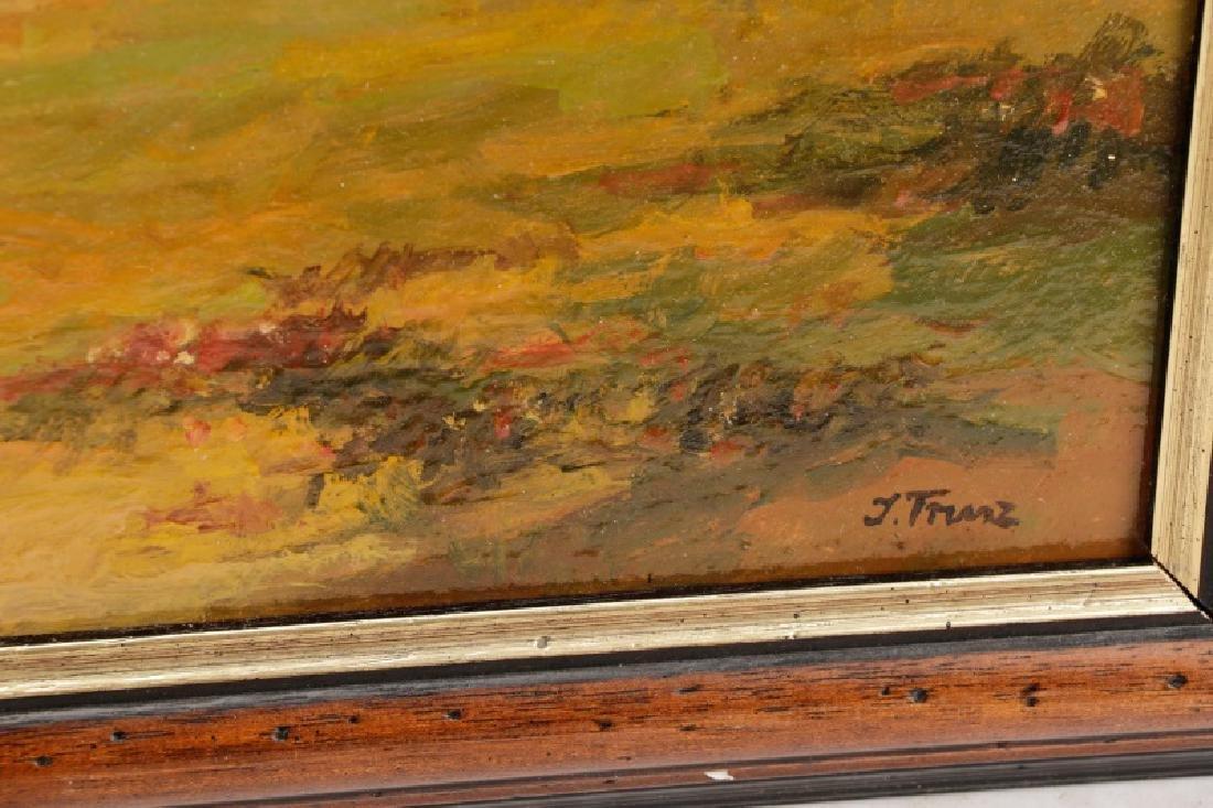 """Iwan Trusz, """"Haystacks"""", Oil on Board - 6"""