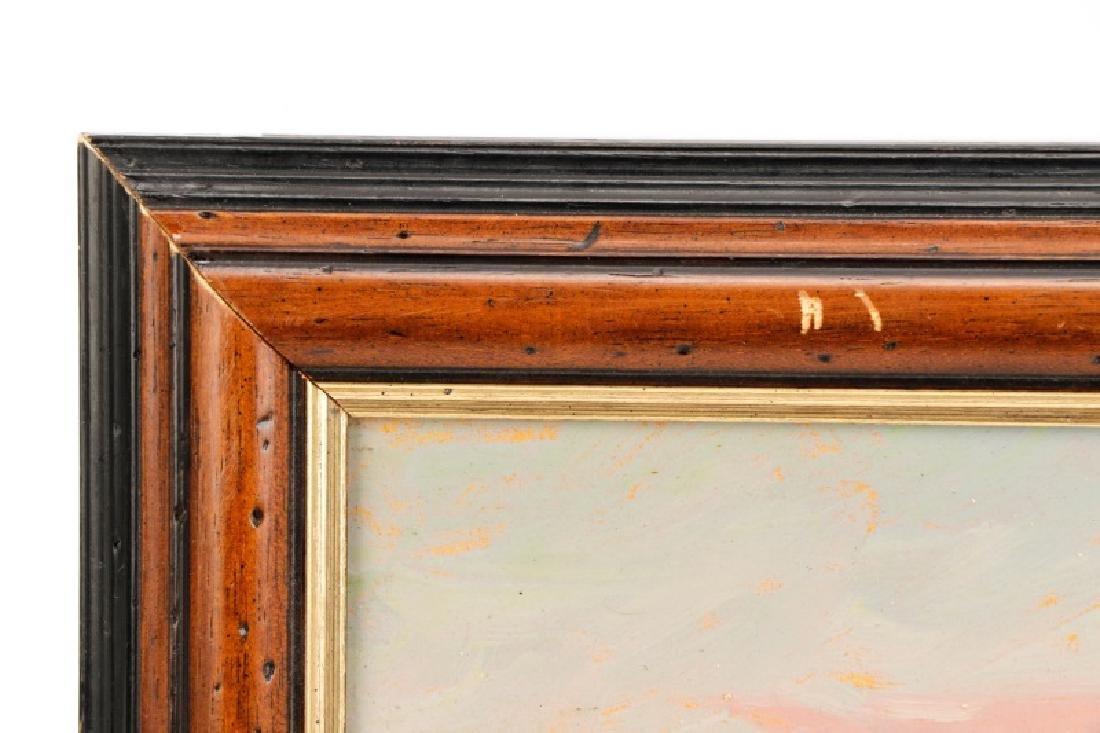 """Iwan Trusz, """"Haystacks"""", Oil on Board - 7"""